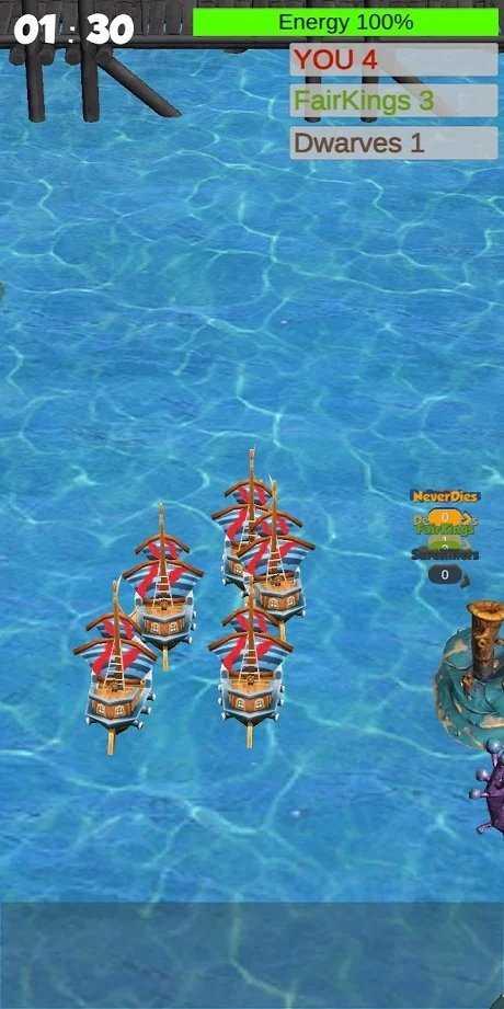 人群海上战舰