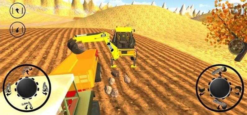 工地挖掘机施工
