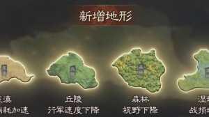 三国志战略版军争地利剧本新地形位置分布详情
