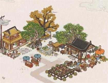 《江南百景图》月饼铺子摆放城市分享